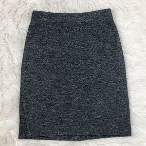 Theory Black & white wool blend pencil skirt sz 8